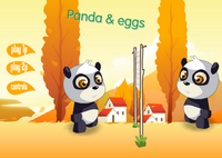 Panda und Eier